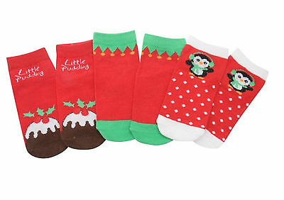 Cute Newborn Giorgio Christmas themed Socks. 3 pack Babies Newborn Socks.