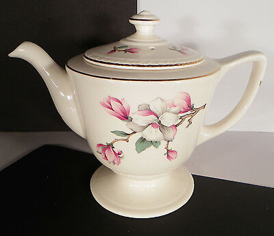 Homer Laughlin Dogwood Liberty Teapot with Lid Retired EUC 6 Cup