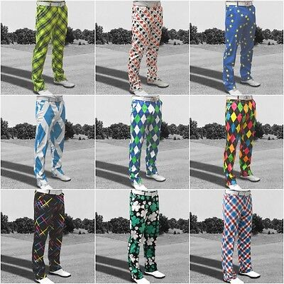Royal & Awesome Men's Golf Trousers New Colours for 2016