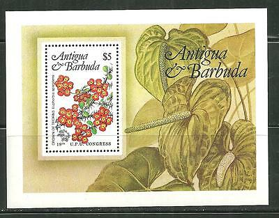 Antigua 759 Mnh S/s Local Flowers