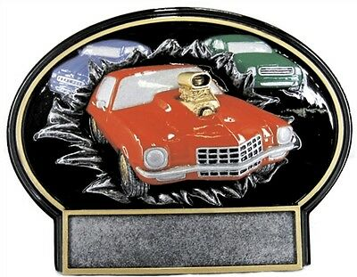 Three Dimensional Muscle Car Trophy Car Show Resin Award Free Lettering