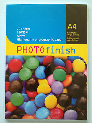 Packet Of Matte High Quality Photographic Paper A4 230Gsm X 20 Sheets.stationary