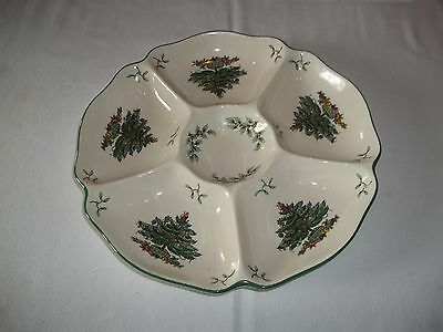Spode Christmas Tree 6 Compartment Serving Relish Tray