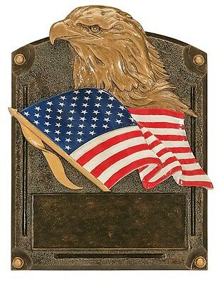 Eagle Americana Resin Plaque Award Military Police Fire Free Engraving Trophy