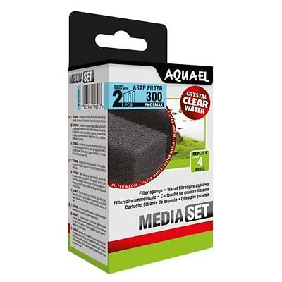 Aquael ASAP 300 Replacement Sponge with Phosmax x2 Aquarium Media *GENUINE*