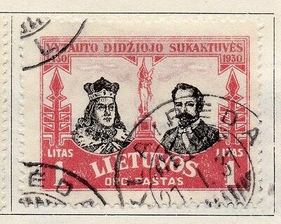 Lithuania 1930 Air Stamp Early Issue Fine Used 1L. 055533