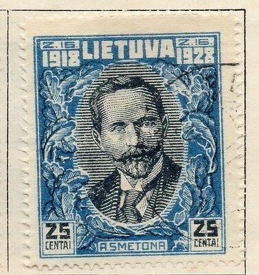 Lithuania 1928 Early Issue Fine Used 25c. 055514