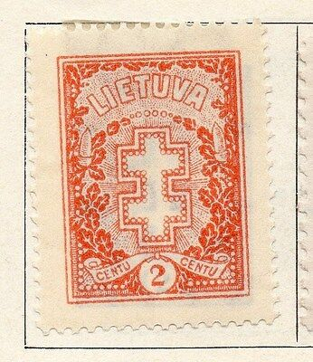 Lithuania 1926 Early Issue Fine Mint Hinged 2c. 055501