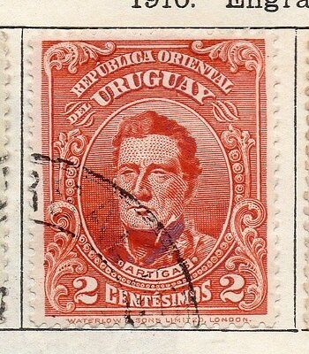 Uruguay 1910 Early Issue Fine Used 2c. 055434