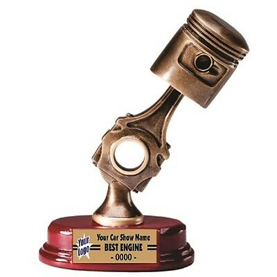 Car Show Trophy Three Dimensional  Piston Resin Award Free Lettering M*rf36