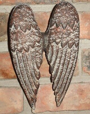Cast Iron Angel Wings, Wall Decor, Garden Decor, Old World Tuscan Decor,