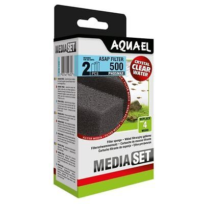 Aquael ASAP 500 Replacement Sponge with Phosmax x2 Aquarium Media