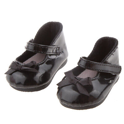 Black Bow Shoes for 18 inch American Girl Doll Our Generation Journey Dolls
