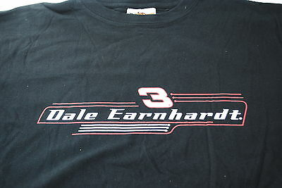 Dale Earnhardt Snr. #3 Black T-Shirt Size Large