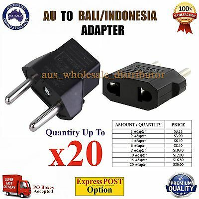 AU AUS NZ to BALI INDONESIA Travel Power Plug Convertor Electric Adapter Socket