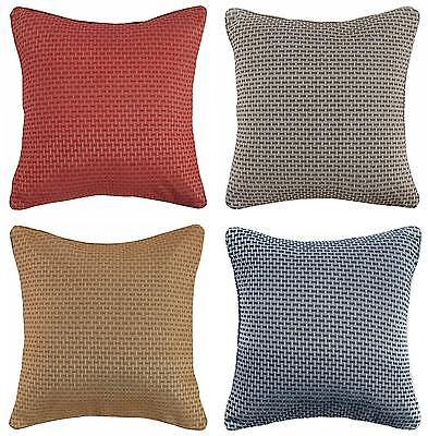 "Regalia Basket Weave Textured Jacquard Piped Cushion Cover 18""x18"""