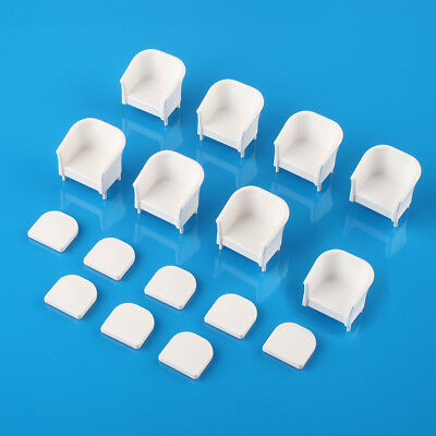 8pcs White Chairs Model Simple style 1/25 G Dollhouse Miniature Furniture