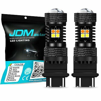 JDM ASTAR 3157 LED Switchback 3030 SMD Dual Color White Yellow Turn Signal Light