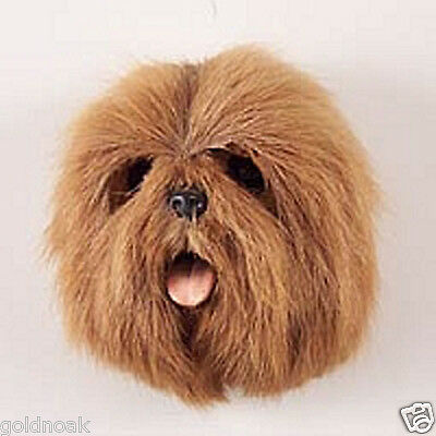 (1) BROWN LHASA APSO DOG MAGNET! Very realistic collectible fur Magnets!