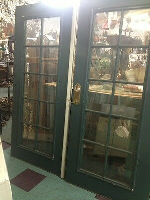 French Doors Exterrior Double Pained Glass