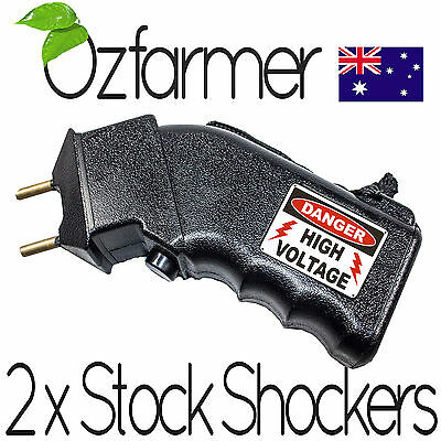 2 x Cattle Prodder With Batteries Prod Dog Sheep Goats Beef Cows Electric Shock