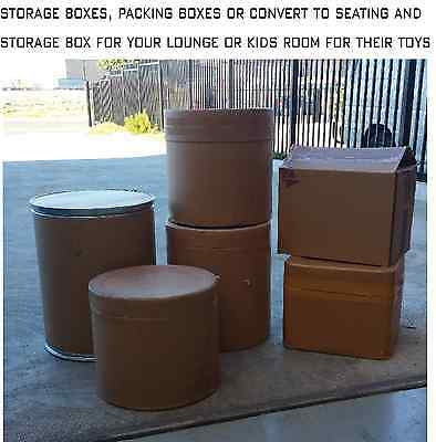 Cardboard Storage Box & Drum, Strong, Removalist Storage, Packing, Moving