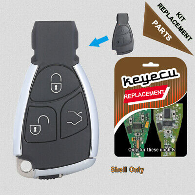 Modified New Smart Remote Key Shell Case Fob 3B for Mercedes-Benz CLS C E S