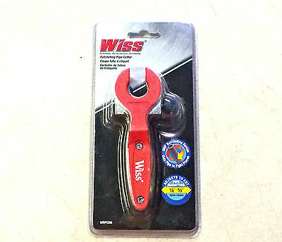 """Wiss Wrpcsm Pipe Cutter Ratcheting 1/8"""" To 1/2"""" Pvc Brass Copper Aluminum"""