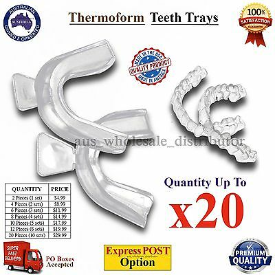 Teeth Whitening Thermoform Mouth Guard Tray Tooth Moulding Boil & Bite USA made