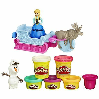 NEW Sled Adventure Featuring Disney's Frozen W/ Sparkly Play- Doh By Play-Doh