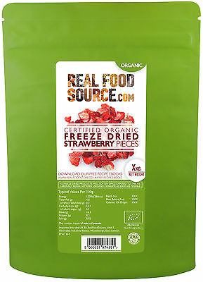 RealFoodSource Certified Organic Freeze Dried Strawberry Pieces