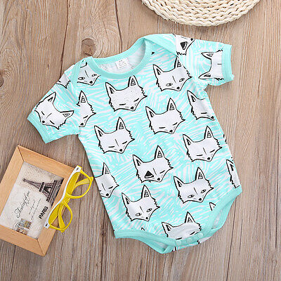 2016 Baby Girl Boy Clothes Fox Romper Bodysuit Jumpsuit One-pieces Outfits 3-18M