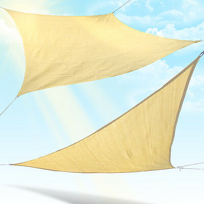 Sun Shade Sail Canopy Garden Patio Awning UV Protection Outdoor Triangle Square