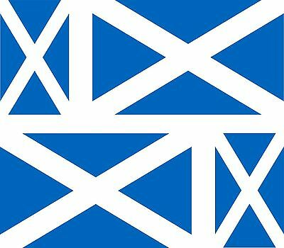 4x scotland flag decals sticker bike car vinyl helmet scottish