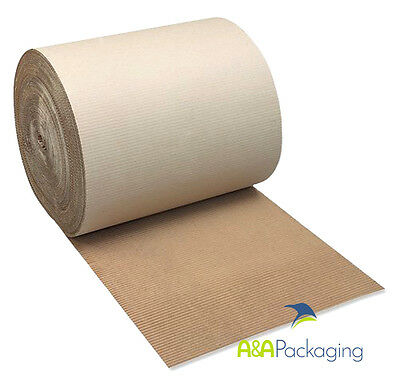 Corrugated Cardboard Rolls 450mm 75mtr Brown Wrapping Paper (0802)
