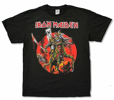 Iron Maiden Samurai Ed Black T-Shirt New Official Band Merch