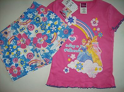 Disney Princess Girls Outfit 2pc Short Set Size Small NWT