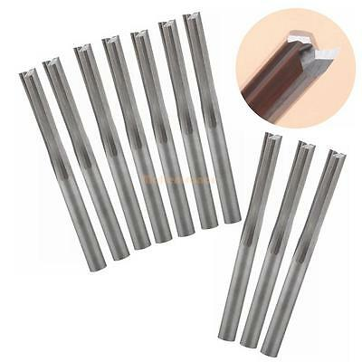 10Pcs 3.175X22mm Two Flutes Straight Slot End Mill CNC Cutting Tools Router Bits