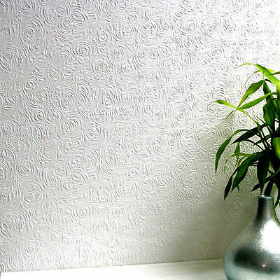 RD80101 Anaglypta Wallcovering Pro Swirl Textured Paintable Wallpaper