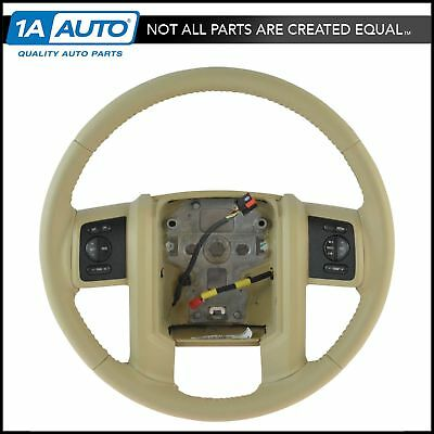 OEM Leather Steering Wheel w/ Radio & Cruise Control Buttons for Ford Super Duty