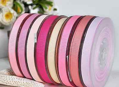 "3/8"" 9mm GROSGRAIN RIBBON ALL COLOURS WEDDING CAKE DUMMY CLIP BIRTHDAY FREE P&P"
