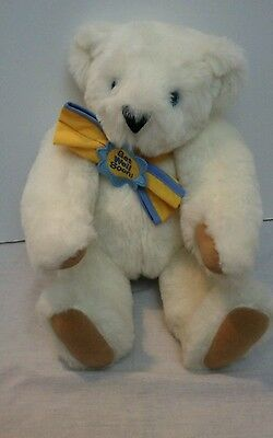 Vermont Teddy Bear Authentic Get Well Soon Born Jointed