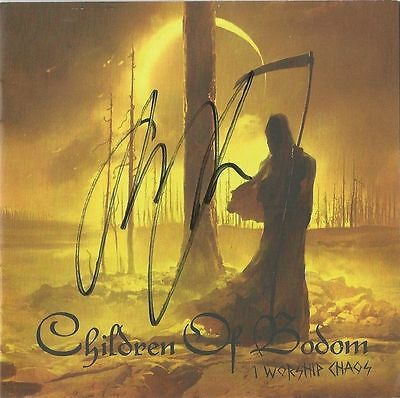 Childern Of Bodom I Worship Chaos CD + Signed cd sleeve autographed Alexi Laiho