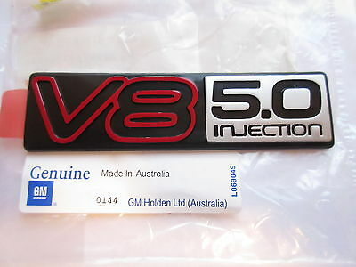 VN COMMODORE BERLINA CALAIS SS HSV ' V8 5.0L INJECTION ' BADGE x1 GENUINE GM NEW