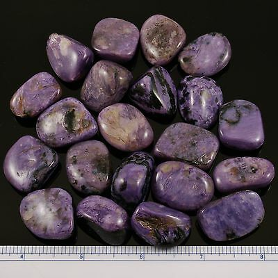 CHAROITE ONE Tumbled Polished Stone 7 -10 grams each w/ Healing Property Card