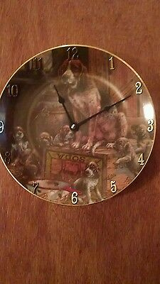 German Shorthaired Pointer Mom And Her Pups Clock Plate !!