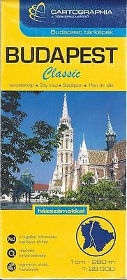 Map of Budapest, Hungary, city map by Cartographia, 2007
