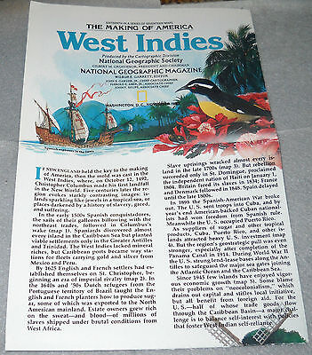 The Making of America - West Indies - National Geographic Society Map
