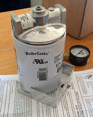LOT of 2 HVAC Spin-on Filter Kits---Spin-On Fuel Oil Filter--264-90GBM