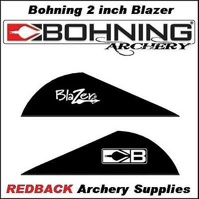 36 Bohning Blazer BLACK 2 inch for arrows archery hunting
